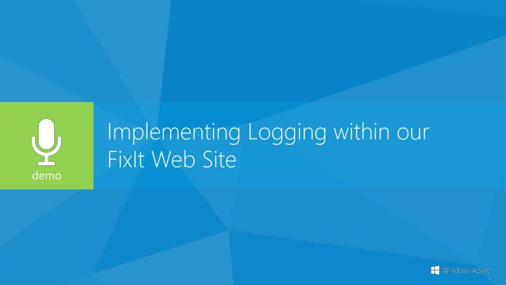 Implementing Logging within our
