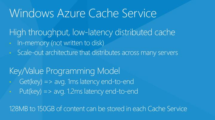 Windows Azure Cache Service
