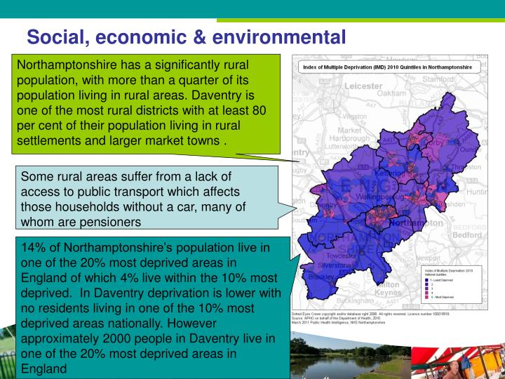 Social, economic & environmental