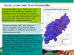 social economic environmental