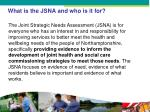what is the jsna and who is it for