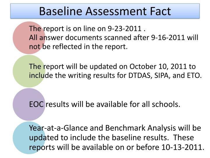Baseline Assessment Fact