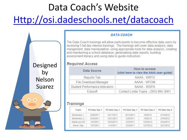 Data Coach's Website