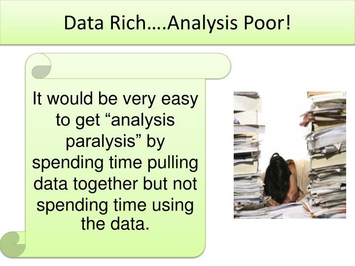 Data Rich….Analysis Poor!