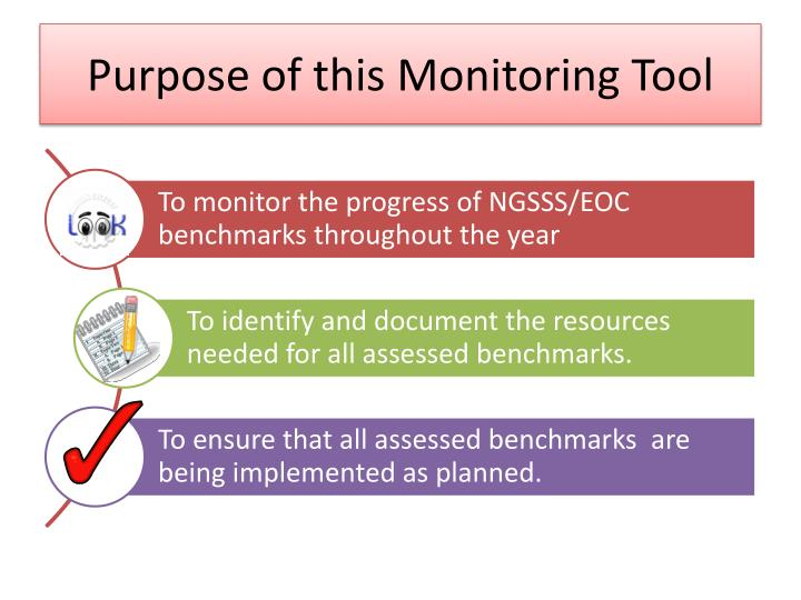 Purpose of this Monitoring Tool