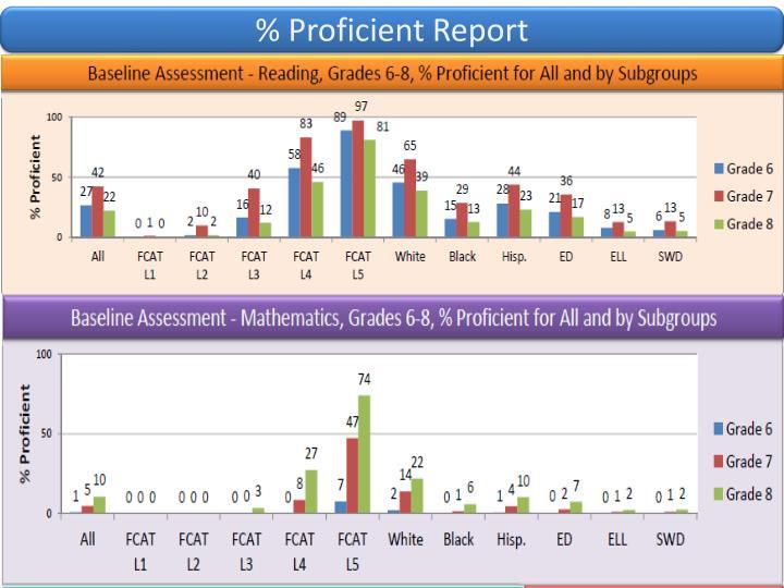 % Proficient Report