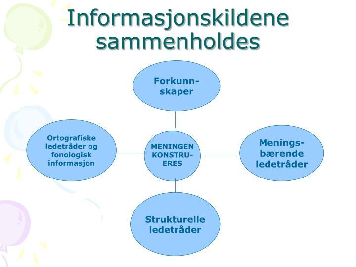 Informasjonskildene sammenholdes