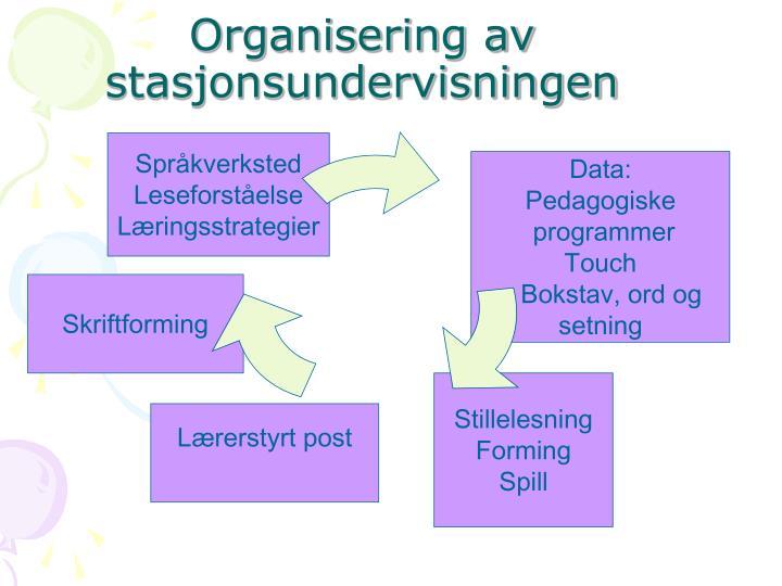 Organisering av stasjonsundervisningen