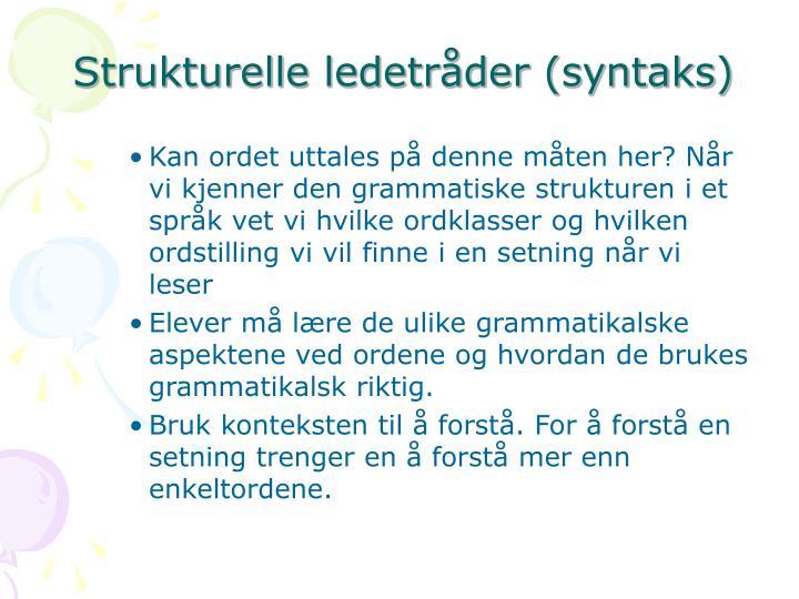 Strukturelle ledetråder (syntaks)