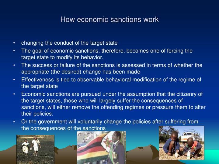 How economic sanctions work