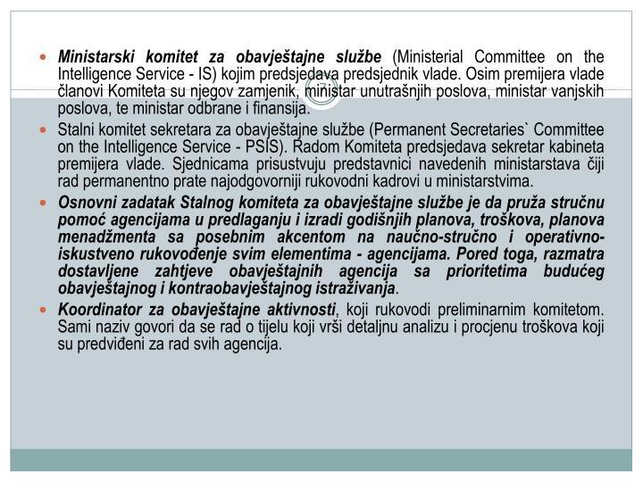 Ministarski komitet za obavjetajne slube