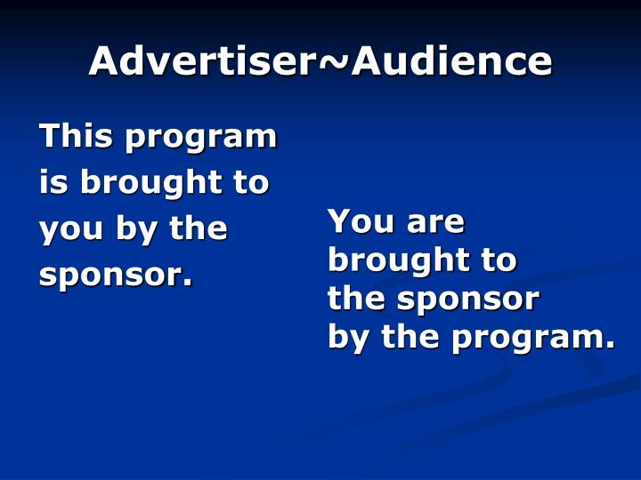 Advertiser~Audience