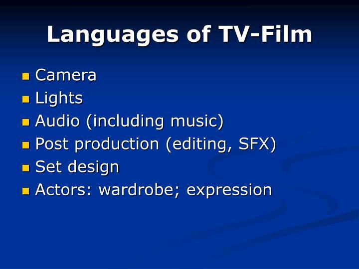 Languages of TV-Film