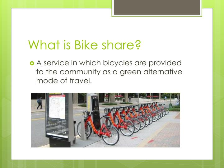 What is Bike share?