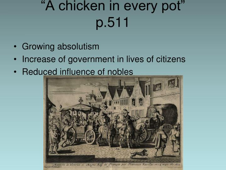 """A chicken in every pot"""