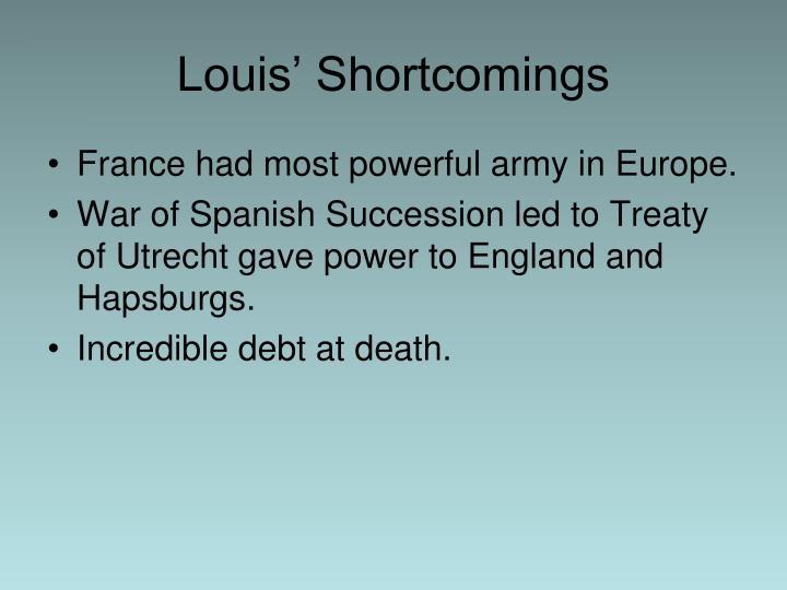 Louis' Shortcomings