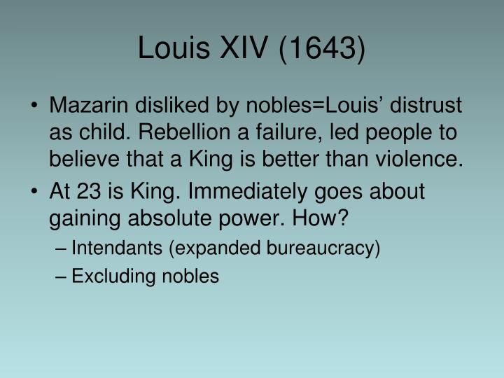 Louis XIV (1643)