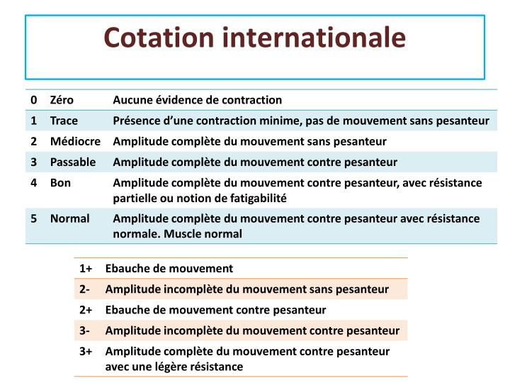 Cotation internationale
