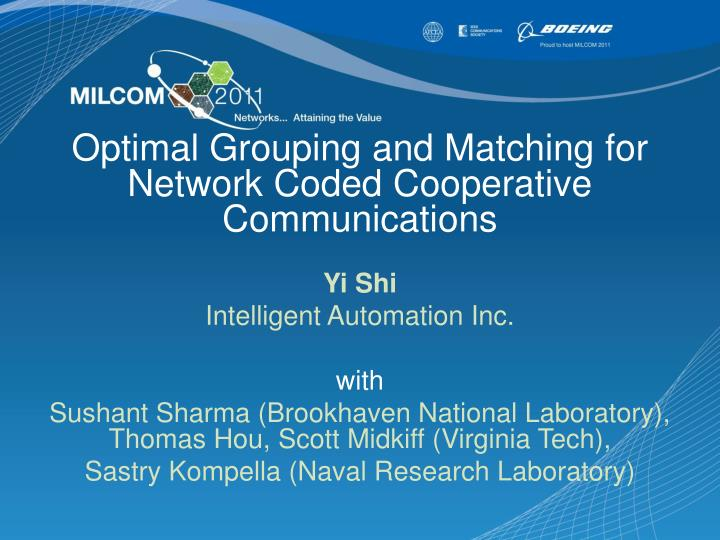 Optimal Grouping and Matching for Network