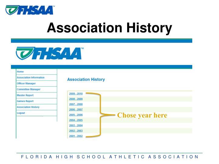Association History