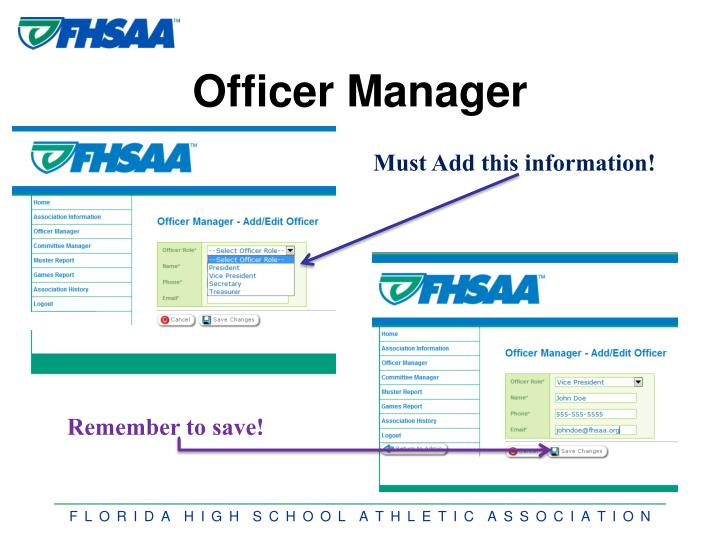 Officer Manager