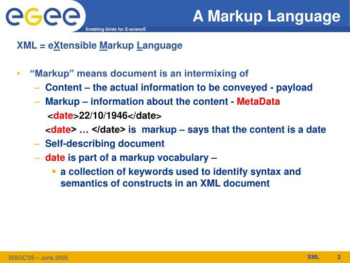 A Markup Language