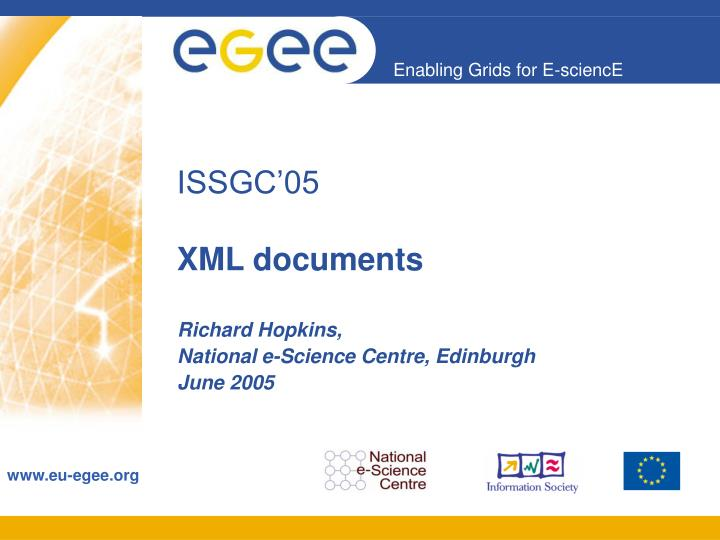 Issgc 05 xml documents
