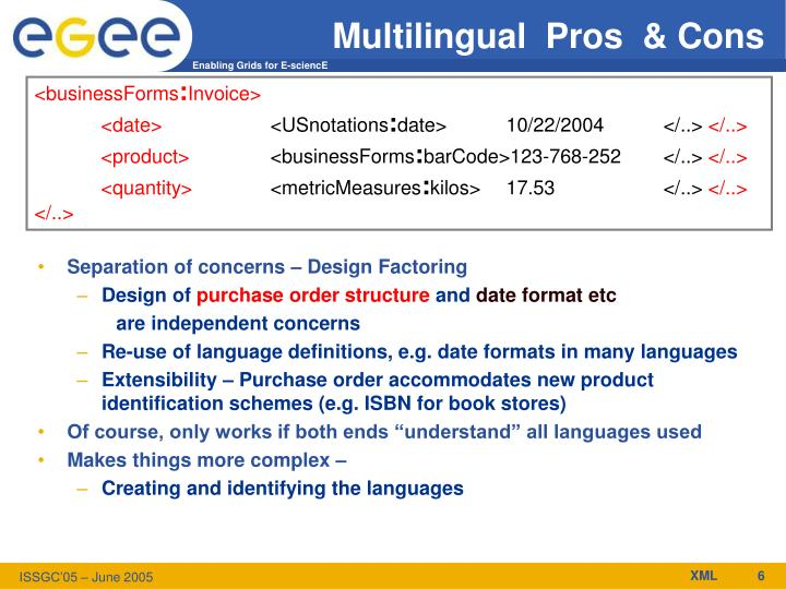 Multilingual  Pros  & Cons