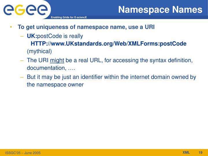 Namespace Names