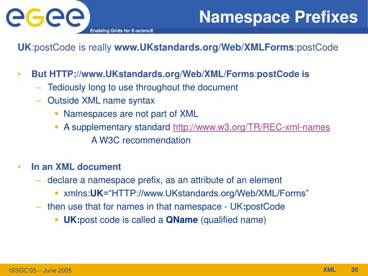 Namespace Prefixes