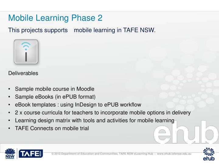 Mobile Learning Phase 2
