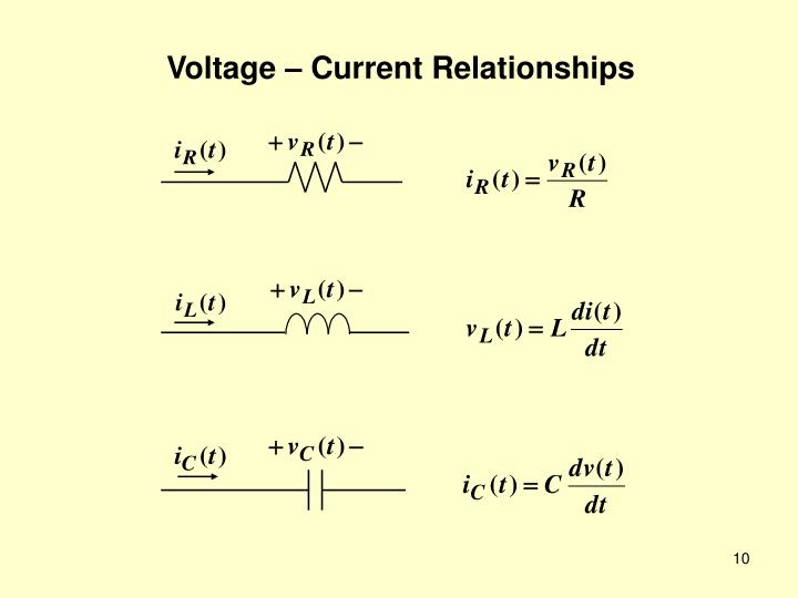 Voltage – Current Relationships