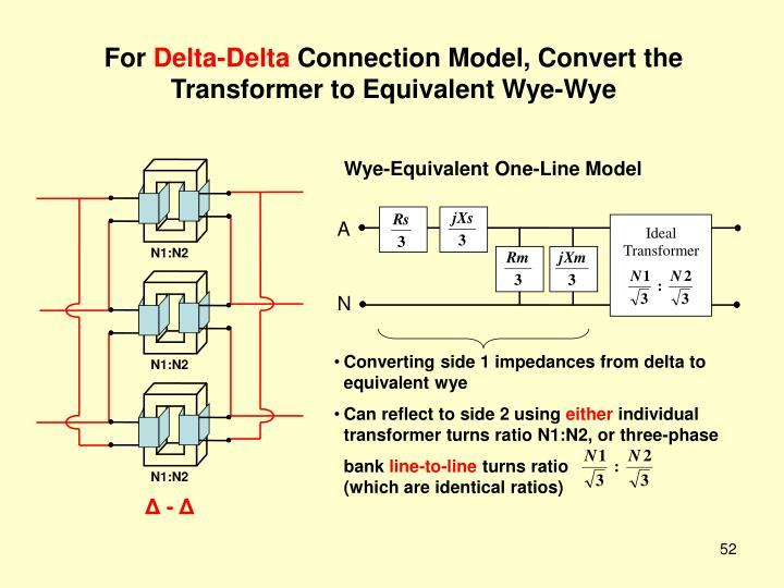 Wye-Equivalent One-Line Model