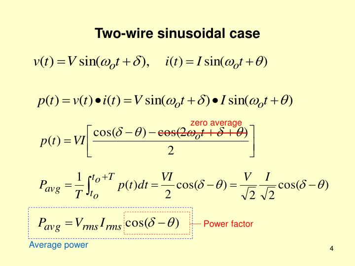 Two-wire sinusoidal case
