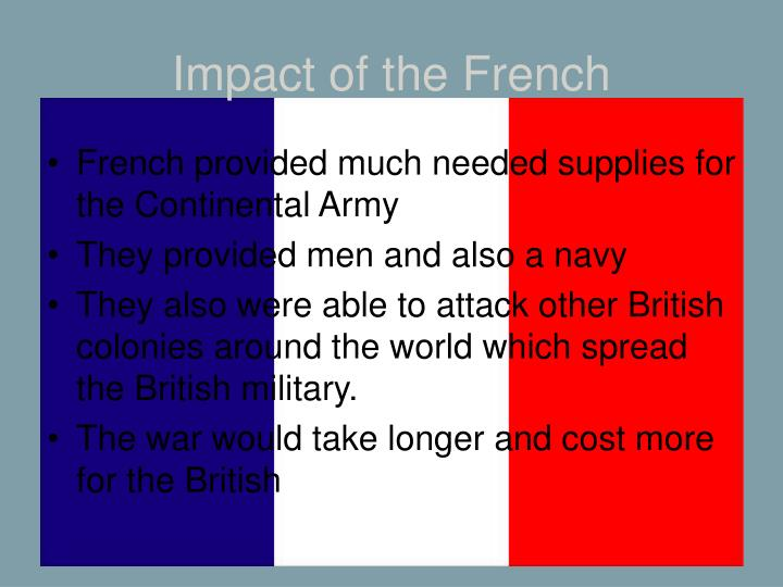 Impact of the French