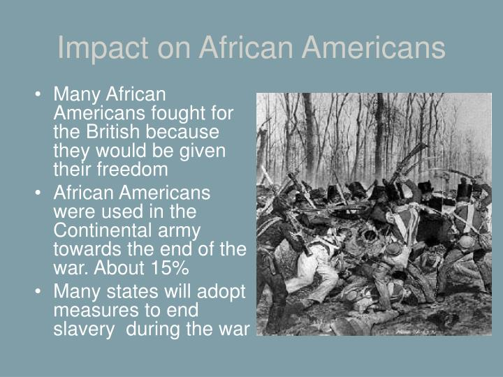 Impact on African Americans