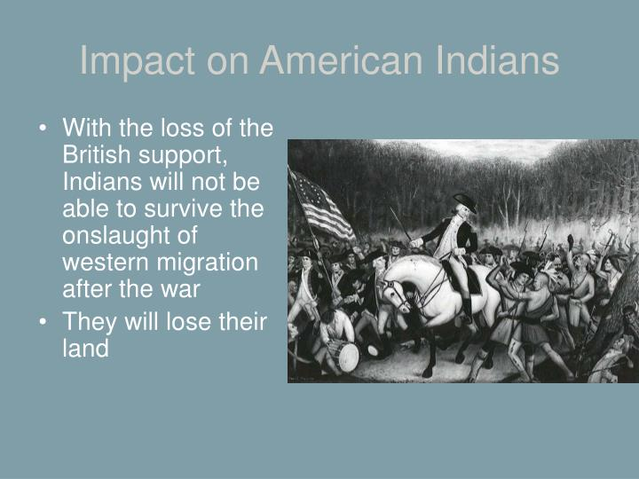 Impact on American Indians