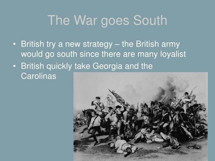 The War goes South