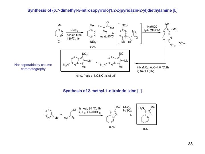 Synthesis of (6,7-dimethyl-5-nitrosopyrrolo[1,2-
