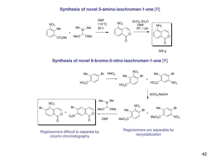 Synthesis of novel 5-amino-isochromen-1-one