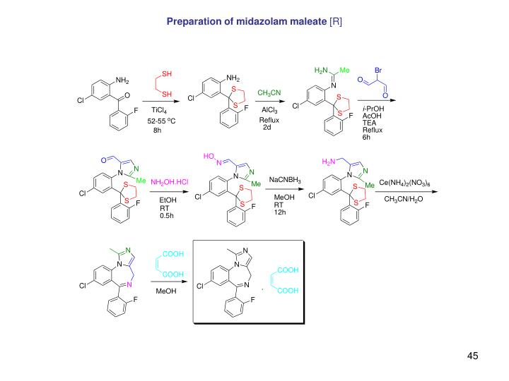 Preparation of midazolam maleate