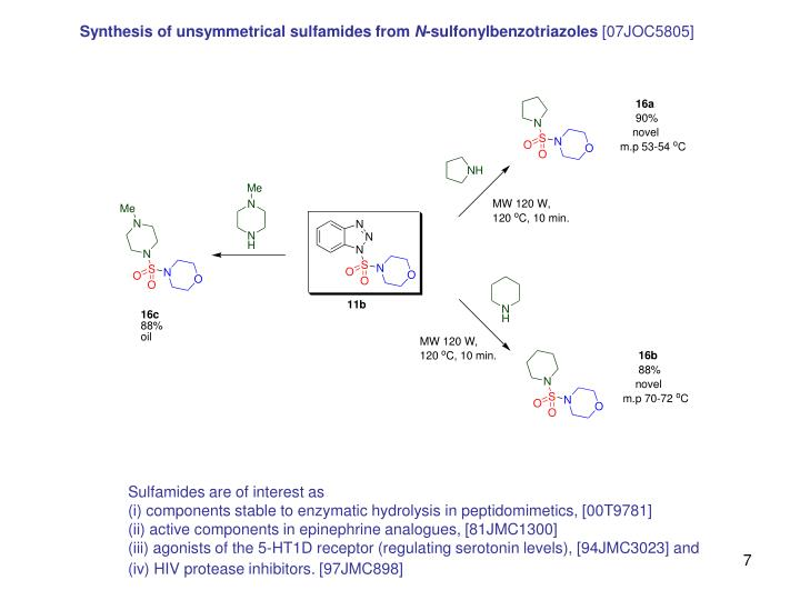Synthesis of unsymmetrical sulfamides from