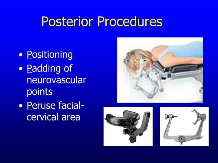 Posterior Procedures