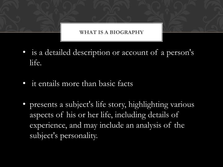 What is a biography