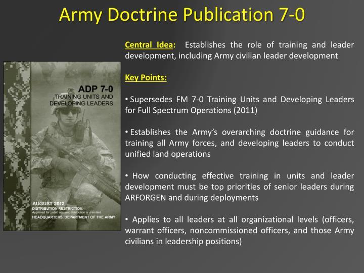 Army Doctrine Publication 7-0