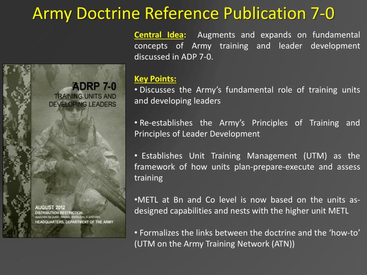 Army Doctrine Reference Publication 7-0