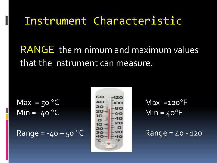 Instrument Characteristic