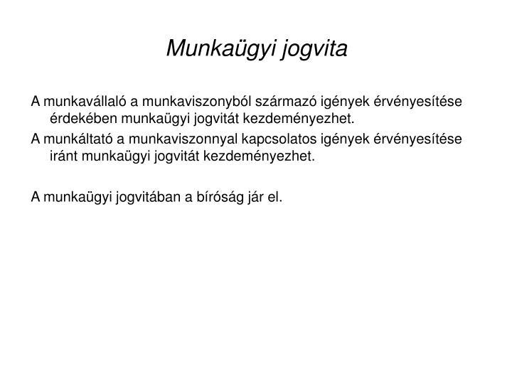 Munkagyi jogvita