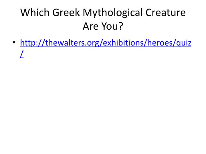Which Greek Mythological Creature Are You?