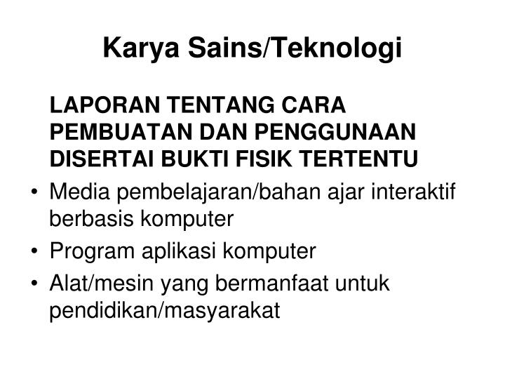 Karya Sains/Teknologi